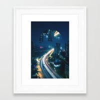 witchoria Framed Art Prints featuring Somewhere Out There by witchoria