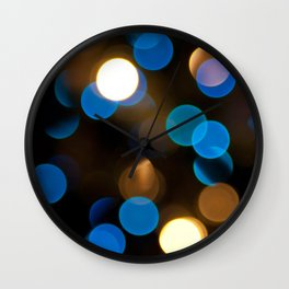 Chrismukkah Bokeh Wall Clock