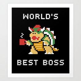 WORLD BEST BOSS Art Print