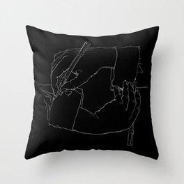 Drawing Hands (Black) - Line art from Escher Throw Pillow