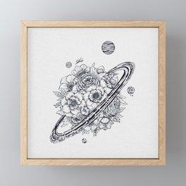 Flowery Planet. Framed Mini Art Print