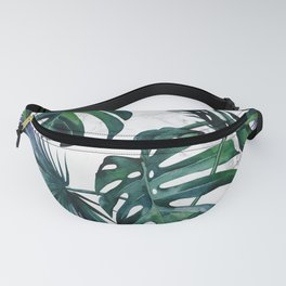 Tropical Palm Leaves Classic on Marble Fanny Pack