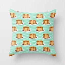 Pancakes & Dots Pattern Throw Pillow