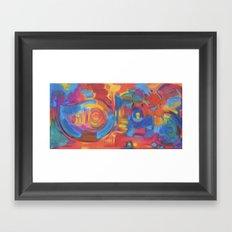Yin Yang Yog Framed Art Print