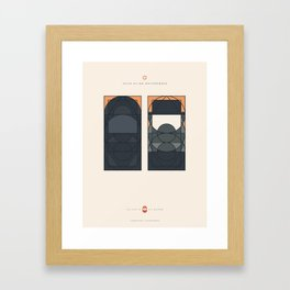LE VOILE & LA BARBE - Juifs ultra-orthodoxes - Femme & Homme Framed Art Print