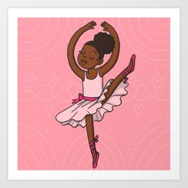 Little Dancing Girl Art Print