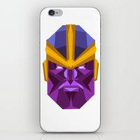 thanos iPhone & iPod Skins featuring THANOS by rybbrybson