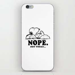 Snoopy Nope iPhone Skin