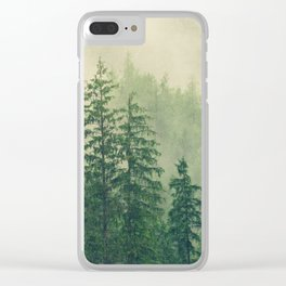 Majestic Forest Clear iPhone Case