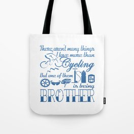 Cycling Brother Tote Bag