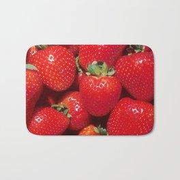 Garden Strawberries Bath Mat