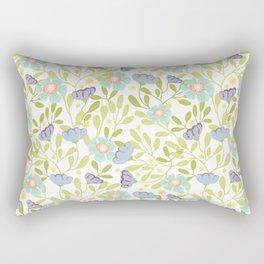Sage and Poppy Rectangular Pillow