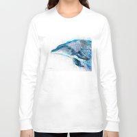 dolphin Long Sleeve T-shirts featuring Dolphin  by Slaveika Aladjova