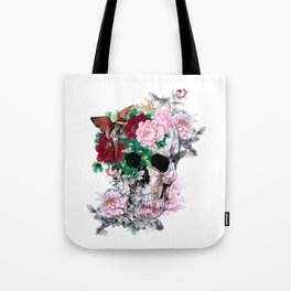 BIRDS ON SKULL Tote Bag
