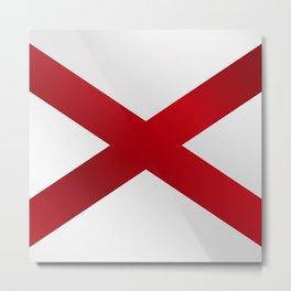 Alabama Sate Flag Gloss Metal Print