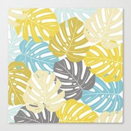 Colourful tropical leaves Canvas Print
