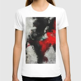 Black and Red Abstract Art T-shirt