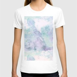 Pastel modern purple lavender hand painted watercolor wash T-shirt