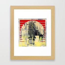 sunday Morning - red Framed Art Print
