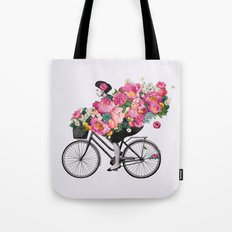 floral bicycle  Tote Bag