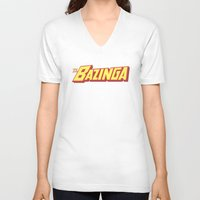 bazinga V-neck T-shirts featuring The Bazinga by thom2maro