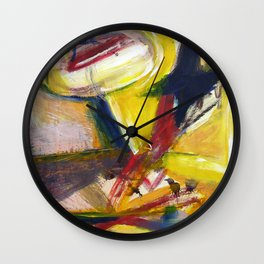 Primary 2. Bright, abstract painting Wall Clock