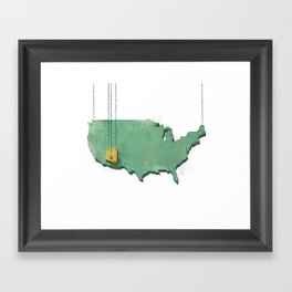 Suspended Geography Framed Art Print