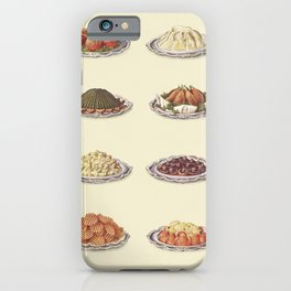 Vegetables II Stuffed Tomatoes Vegetable Marrow a la Creme Spinach Potato Croquettes Haricot Beans T iPhone Case