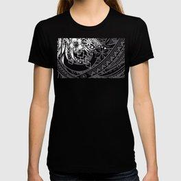 Slate Polynesian Tribal Threads Grunge T-shirt