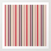 stripe Art Prints featuring Stripe by Tayler Willcox