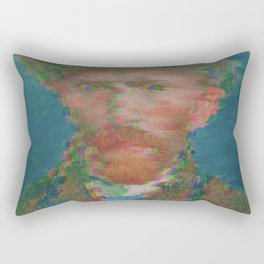 Gliteched Van Gogh Rectangular Pillow