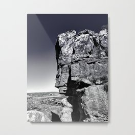 Rock Face Metal Print