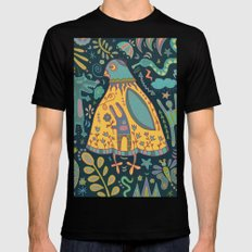 Chatty Yellow Bird 2X-LARGE Mens Fitted Tee Black