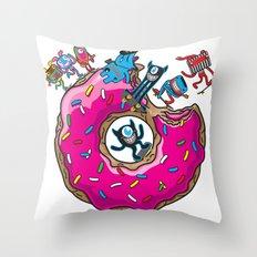 Skate Donut Throw Pillow