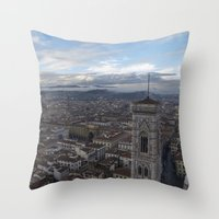europe Throw Pillows featuring Europe by LonelyHeartsClub