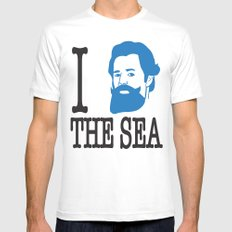 I __ The Sea MEDIUM Mens Fitted Tee White