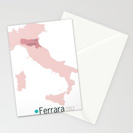 Ferrara, Italy map Stationery Cards