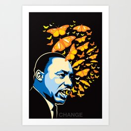 The Voice of Change Art Print