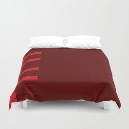 Red Piano Keys Duvet Cover