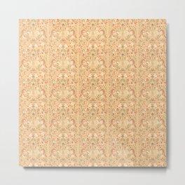 Victoriana Light Smaller Pattern Metal Print