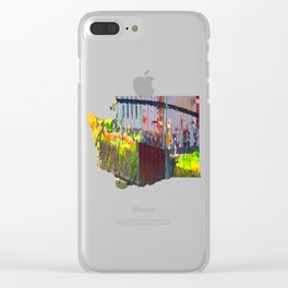 Pointillism: Snoqualmie Falls Clear iPhone Case