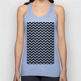 Zigzag (Black & White Pattern) Unisex Tank Top