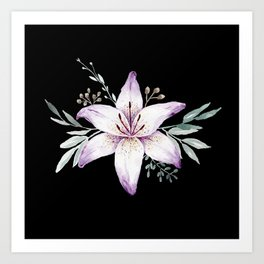 Lilium black Art Print