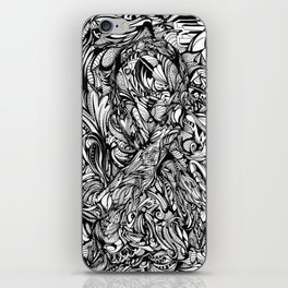 Conquer (Black & White Version)  iPhone Skin