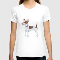 jack russell T-shirts featuring Jack Russell Terrier by Cathy Brear