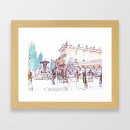 Saturday Market Framed Art Print