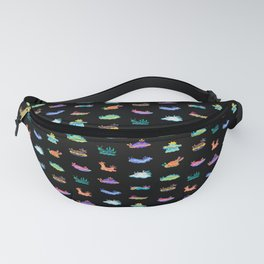 Sea slug - black Fanny Pack