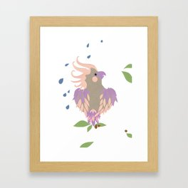 rainy day galah Framed Art Print