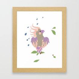 rainy day galah Framed Art Print