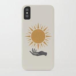 Sunburst Hand iPhone Case
